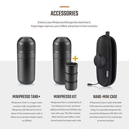Wacaco Minipresso NS, Portable Espresso Machine