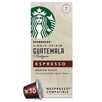 Starbucks Guatemala Espresso Capsules, Nespresso* Compatible (Pack of 12 , Total 120 capsules)
