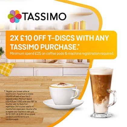 Tassimo Bosch My Way 2 TAS6502GB Coffee Machine, 1500 Watt, 1.3 Litre - Black