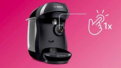 TASSIMO Bosch Happy TAS1002GB Coffee Machine 1400 Watt, 0.7 Litre - Black