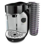 Bosch Tassimo Caddy T75 1.2L Coffee Pod Machine - 32 Disc Pod Holder & Brita Filter - BLACK & SILVER