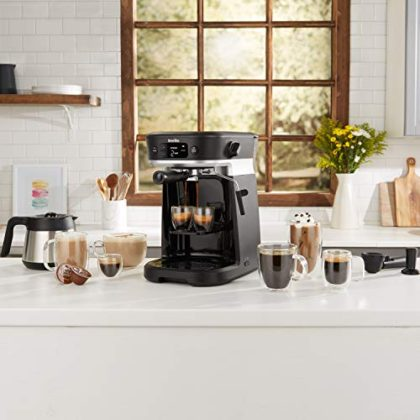 Breville All-in-One Coffee House, Espresso, Filter and Pods Coffee Machine with Milk Frother, Dolce Gusto Compatible…