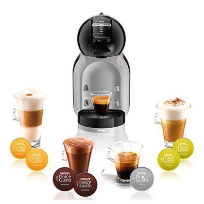 De'Longhi EDG 155.BG NESCAFÉ Dolce Gusto Mini-Me Automatic Coffee Machine Black & Arctic Grey