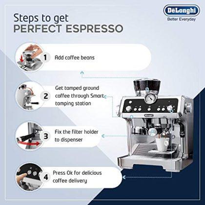 De'Longhi La Specialista Bean to Cup Pump Espresso Coffee Machine, Silver EC9335.M