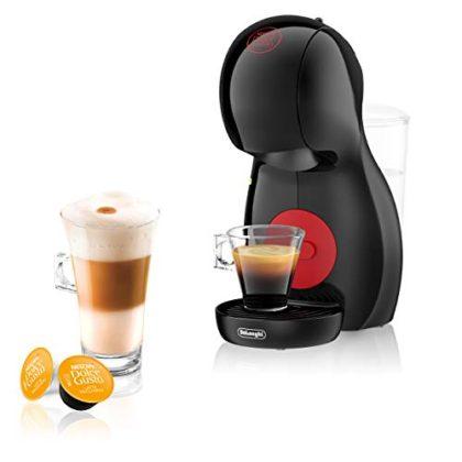 DeLonghi Nescafé Dolce Gusto Piccolo XS Pod Capsule Coffee Machine, Espresso, Cappuccino and more, EDG210.B, Black & Red