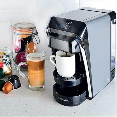 Lakeland 2-in-1 Coffee Pod Machine Dark Grey Compatible with Nespresso