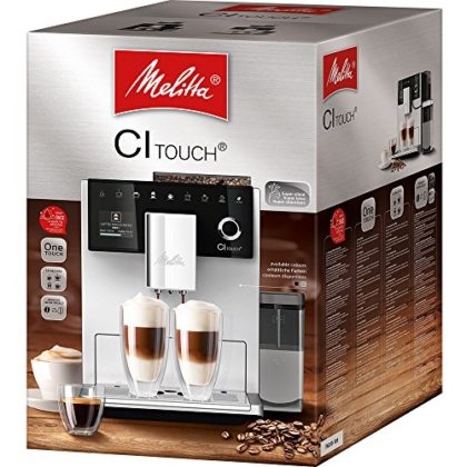 Melitta CI TOUCH F630-102 Compact Bean to Cup Coffee Machine for Office or Home, Stainless Steel, 1400 W, 1.8 Litres…