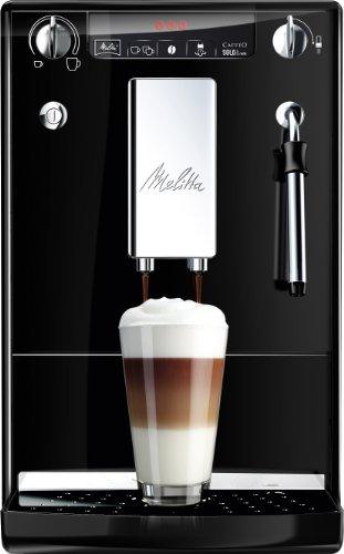 Melitta SOLO & Milk E953-101, Bean to Cup Coffee Machine, with Milk Steamer, Black