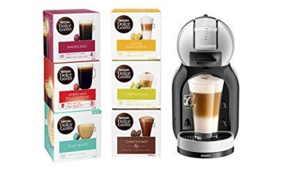 Nescafé Dolce Gusto KP123B41 Mini-Me Automatic Coffee Machine Grey and Black by KRUPS-'Starter Kit' Dolce Gusto, 1500 W…
