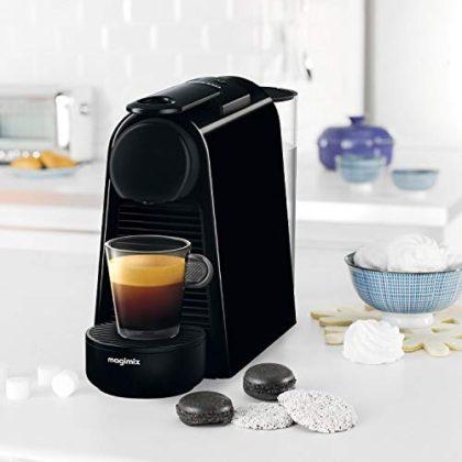 Nespresso 11373 Essenza Mini Coffee Machine with Aeroccino, Ruby Red by Magimix