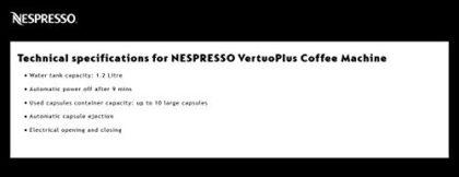 Nespresso Vertuo Plus Coffee Machine, Black finish by Magimix
