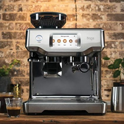 Sage SES880BTR Barista Touch Automatic Espresso Maker, Stainless Steel, 1700 W